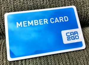 Car2Go Vancouver Member Card