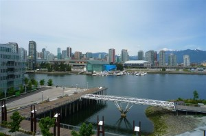 View of False Creek from the Olympic Village in Vancouver, BC