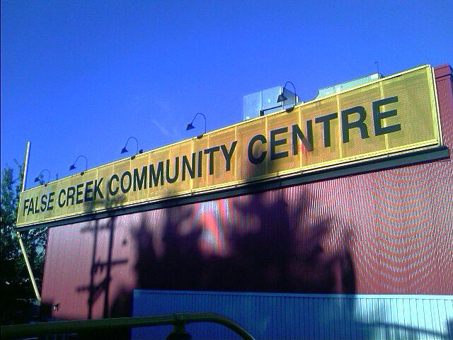 False Creek Community Centre sign
