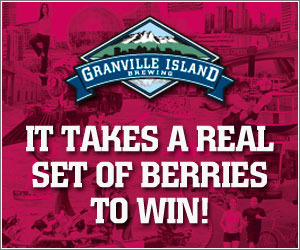 Granville Island Brewing It Takes a Real Set of Berries Contest to Win Logo
