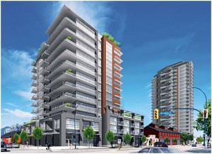 Rendering of the Proximity Southeast False Creek Condo Development by Bastion