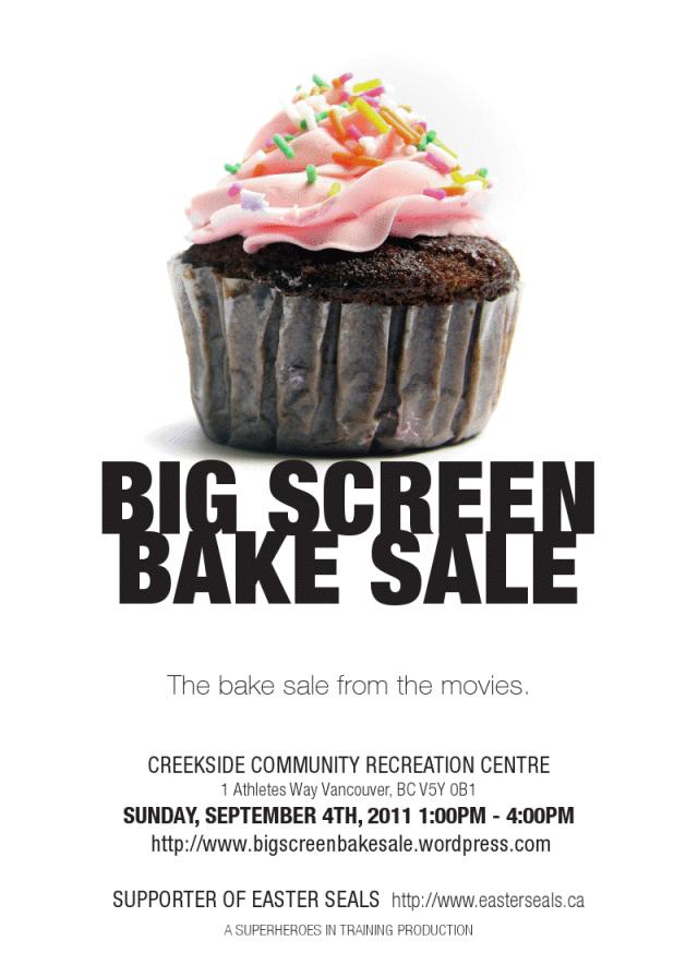 Big Screen Bake Sale at Creekside Community Centre in Southeast False Creek