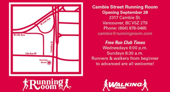 Cambie Street and West 7th Running Room Grand Opening