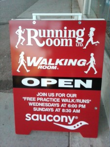 The Running Room Sign at 7th and Cambie in Fairview Slopes