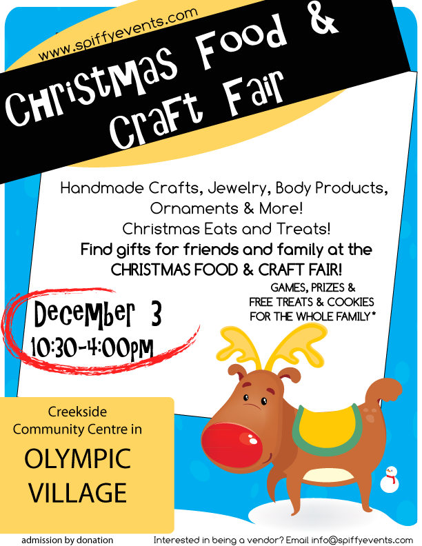 Christmas Craft Fair at Creekside Community Centre in the Olympic Village