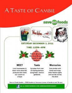 A Taste of Cambie at Save-on Foods Cambie St