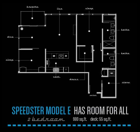 Meccanica by Cressey | Speedster Model E Floor Plan
