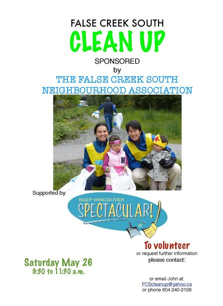 Clean up False Creek South Poster