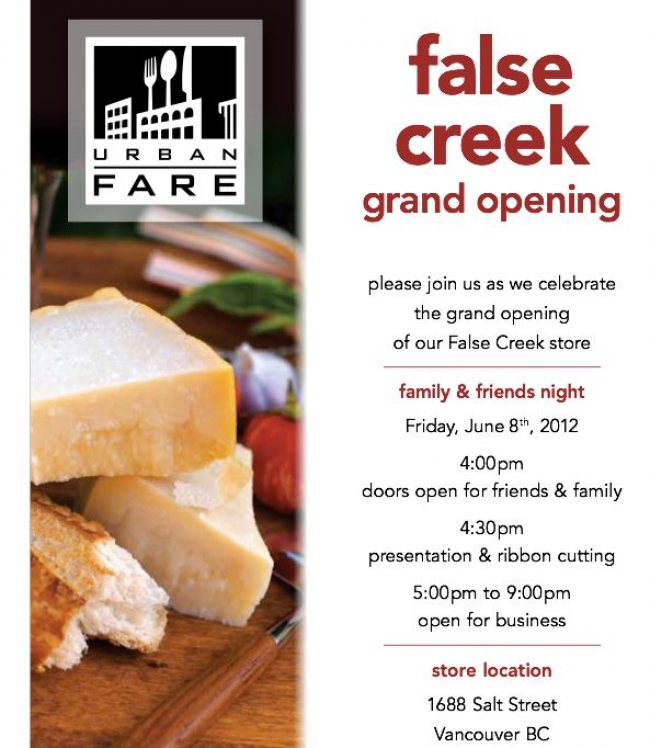 Olympic Village Urban Fare Grand Opening