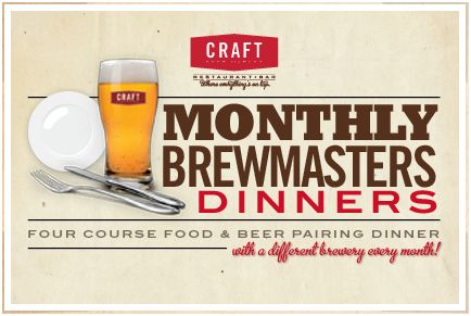 Craft Beer Market Monthly Brewmasters Dinners