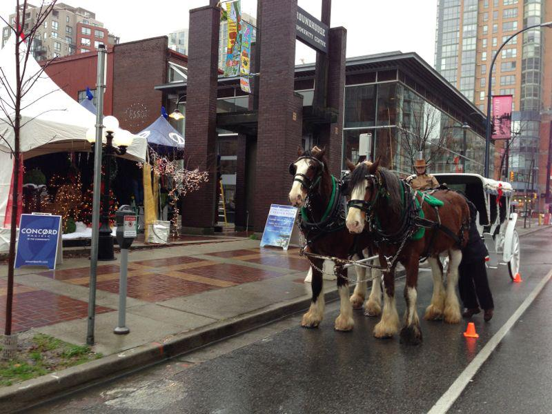 Concord Pacific Christmas horse carriage rides