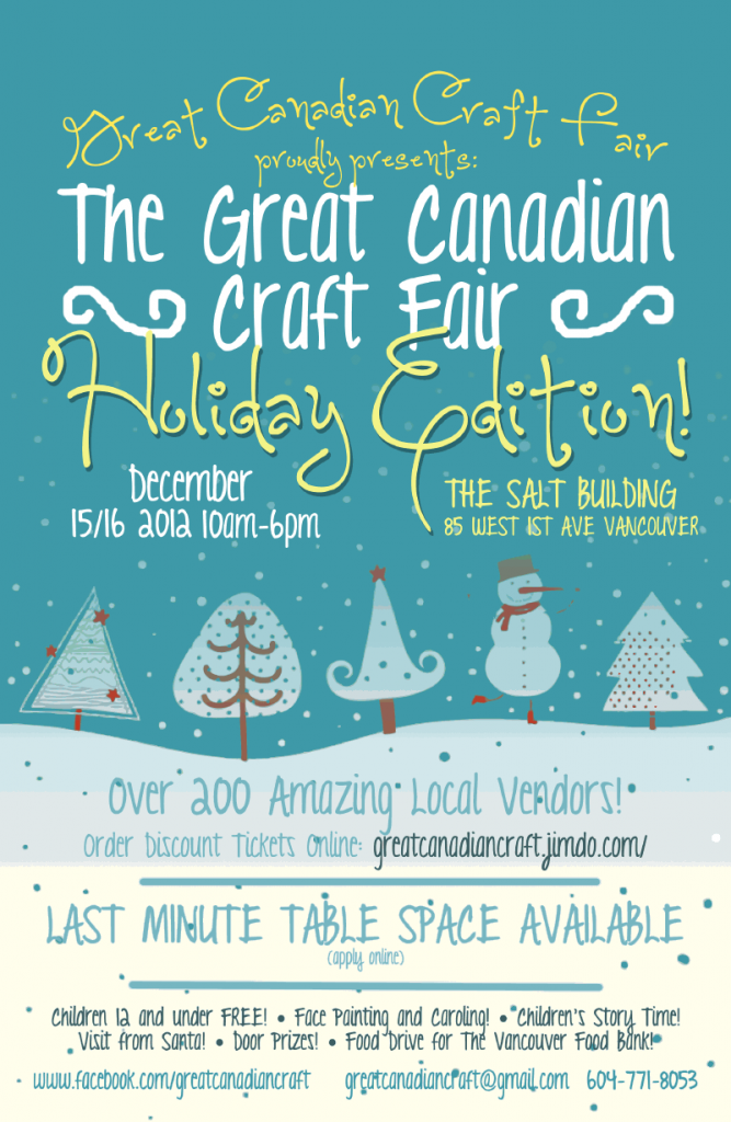 Great Canadian Craft Fair Holiday Edition Poster