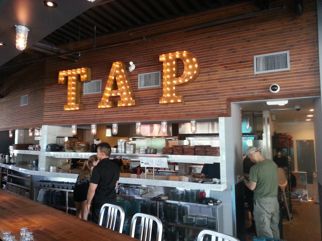 Tap sign at Tap and Barrel