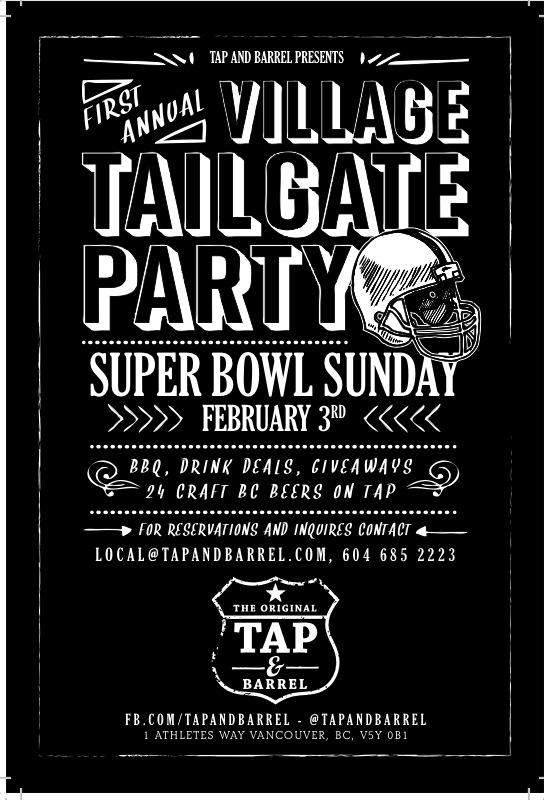 tap and barrel presents the super bowl v