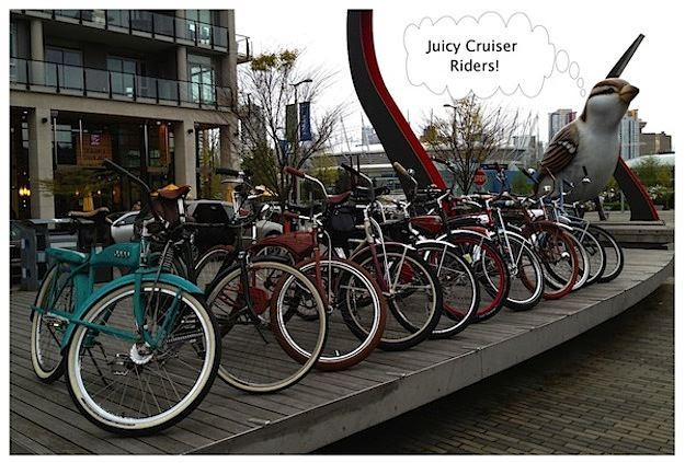 Vancouver Wheelmen Vintage Cruiser Ride Meeting in the Olympic Village