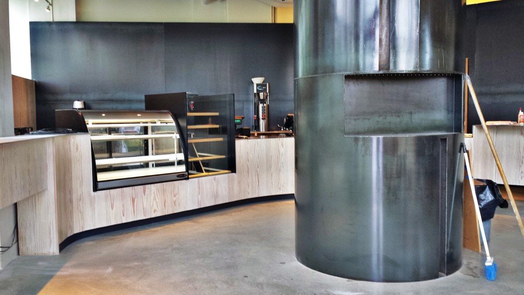 Inside the new JJ Bean Cafe in Southeast False Creek