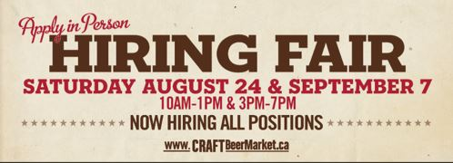 Craft Beer Market Vancouver Hiring Fair #inthevillage