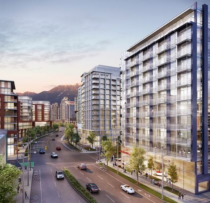 West 1st at Meccanica by Cressey in Southeast False Creek