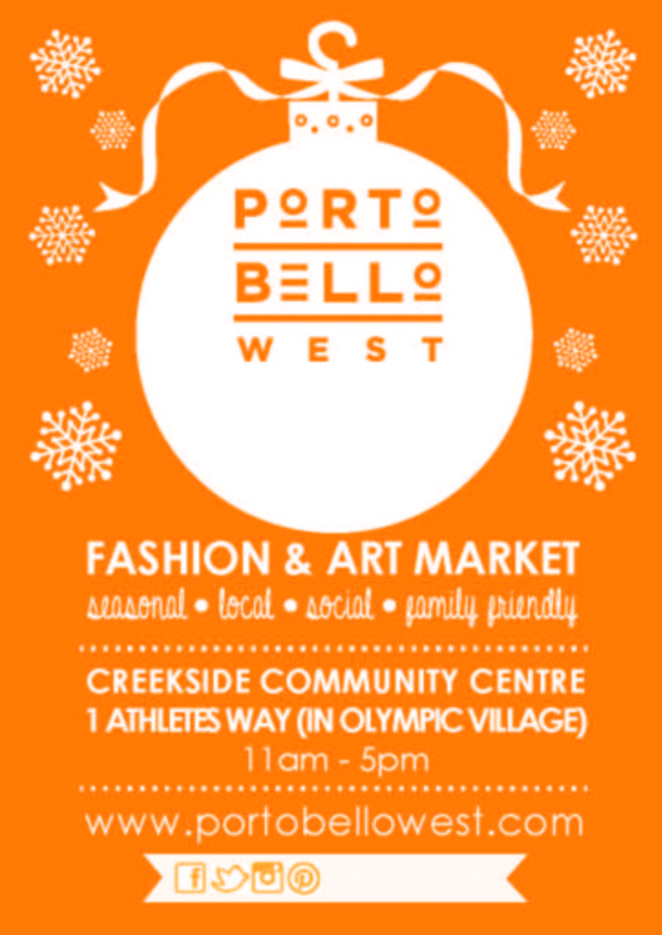 Portobello West Holiday Market Poster