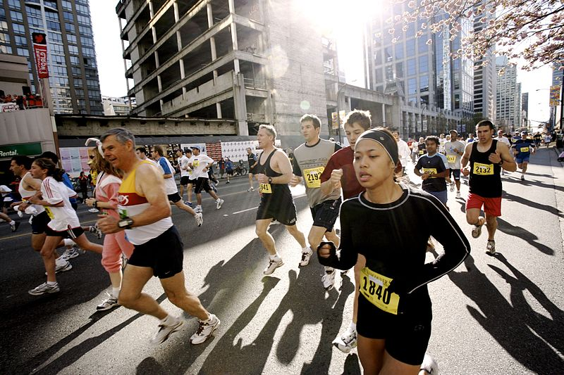 Runner in the The Vancouver Sun Run