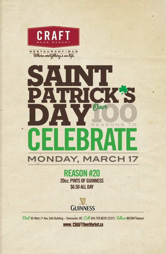 St Patricks Day In Southeast False Creek at Craft Beer Market