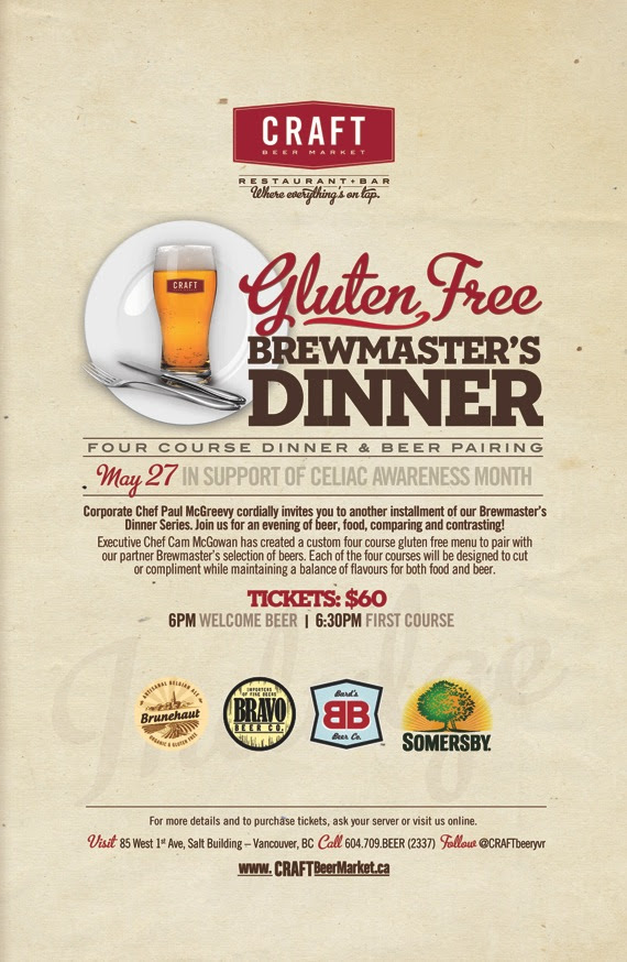 Craft Beer Market Gluten Free Brewmaster's Dinner