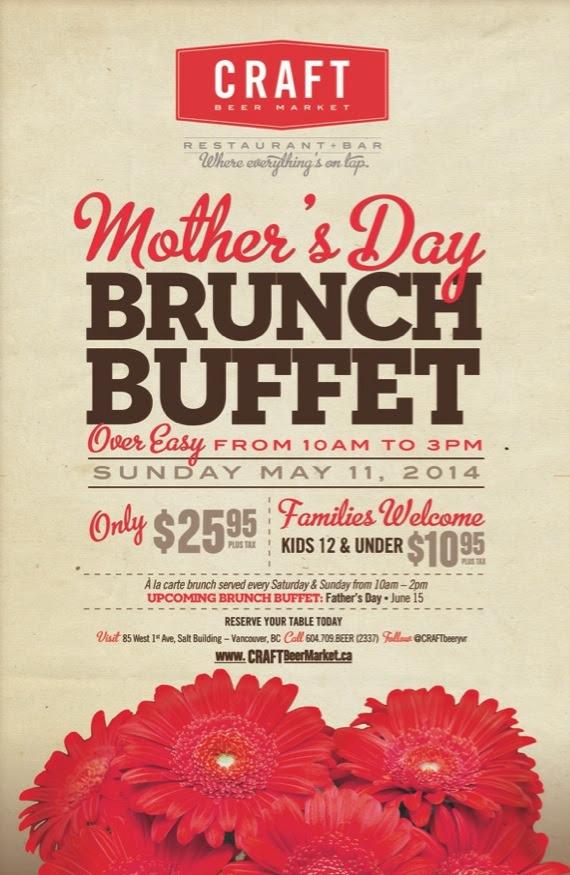 Craft Beer Market Mothers Day Brunch Buffet $25.95