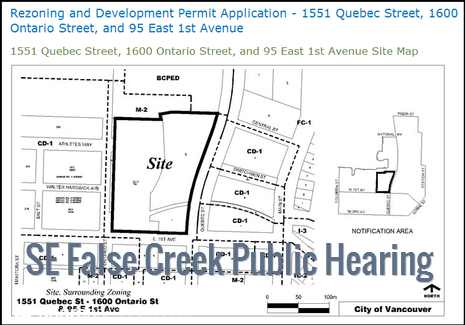 Public Hearing on Re-Zoning in Southeast False Creek