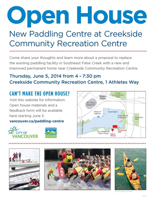 OPEN HOUSE New Creek Paddling Centre at Creekside Community Centre
