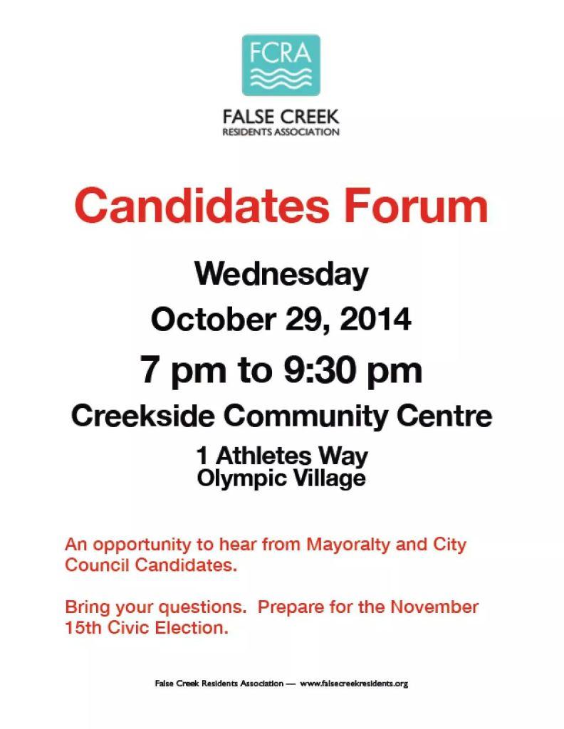 False Creek All Candidate Meeting