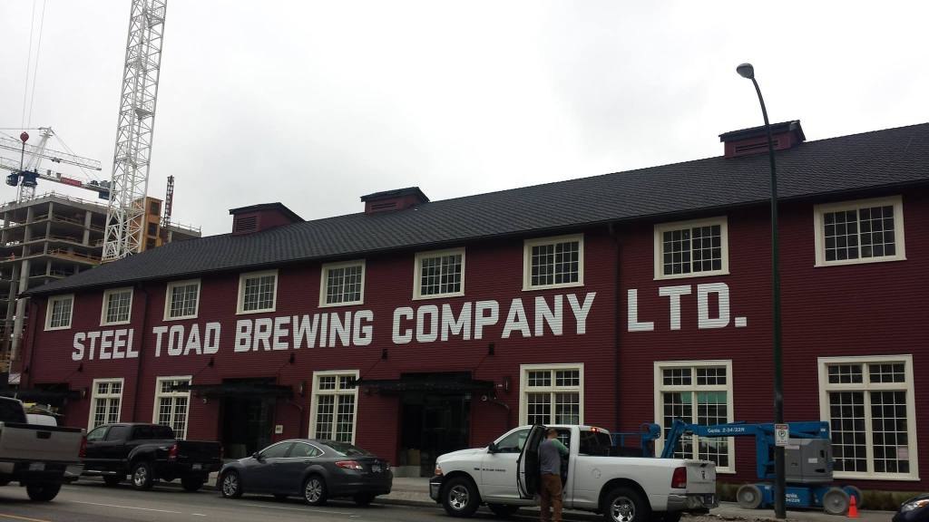 Steel Toad Brewing Company Red Wood Building