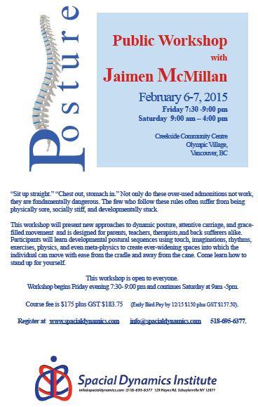 Spacial Posture Workshop at Creekside CC