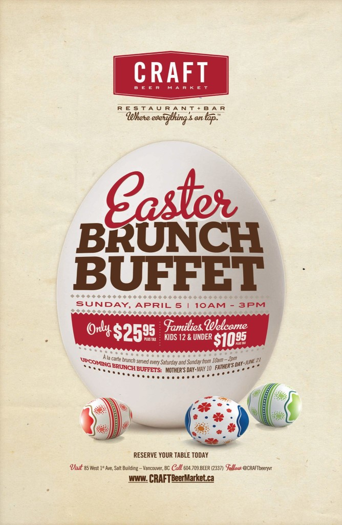 Craft Beer Market Easter Brunch Buffet 2015