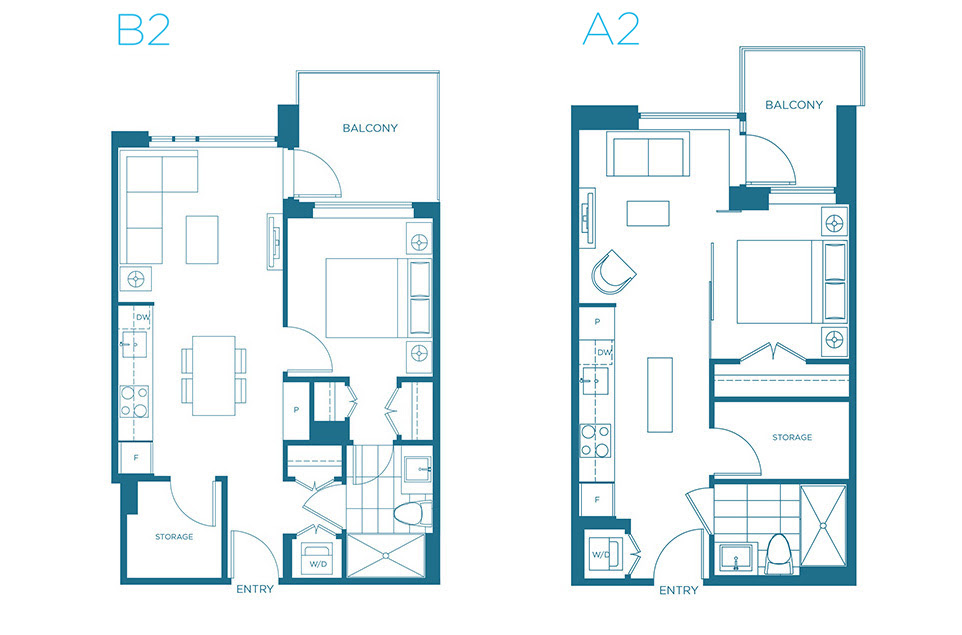 The Creek - Voda A2 and B2 Floor  Plans