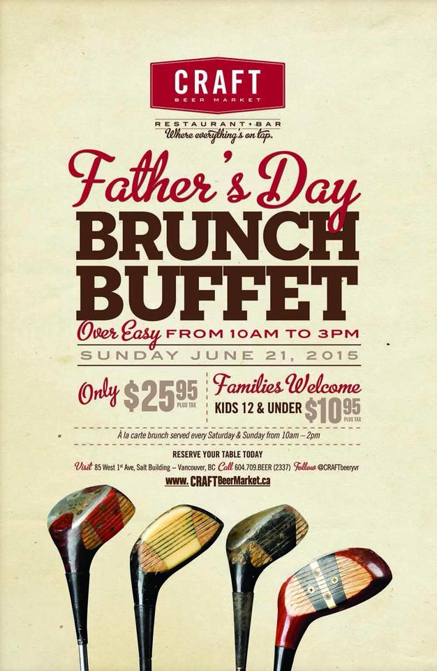 Craft Beer Maket Father's Day Brunch 2015 in the Olympic Village