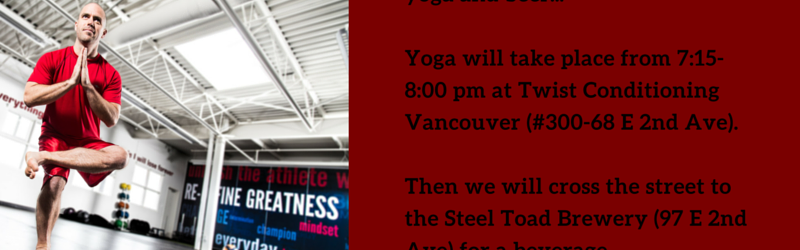 Steel Toad Yoga on Tap with Twist Conditioning