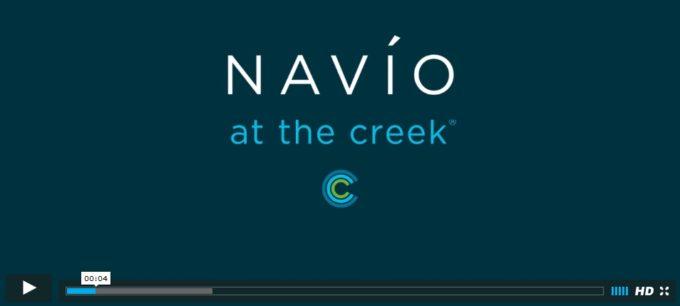Navio at the creek townhomes video screen grab