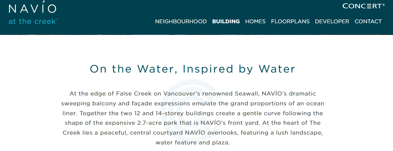 Navio Website : on the water