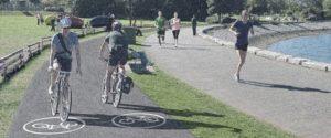 South false creek seawall improvements charleson park separated bike path